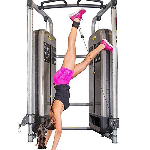 Hossom Fußschlaufen 2er Set für Kabelzug, 2 Stück gepolsterte Beintrainer Foot Ankle Straps für Gym Workouts Kabel Maschinen Bein Übungen für Männer und Frauen