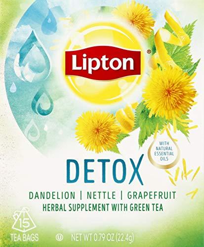 Lipton Herbal Supplement with Green Tea Detox 15 ct
