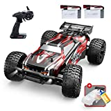 DEERC 9206E Remote Control Car 1:10 Scale Large RC Cars 48+ kmh High Speed for Adults Boys Kid,Extra Shell 4WD 2.4GHz Off Road Monster RC Truck,All Terrain Crawler Gift with 2 Battery for 40+ Min Play