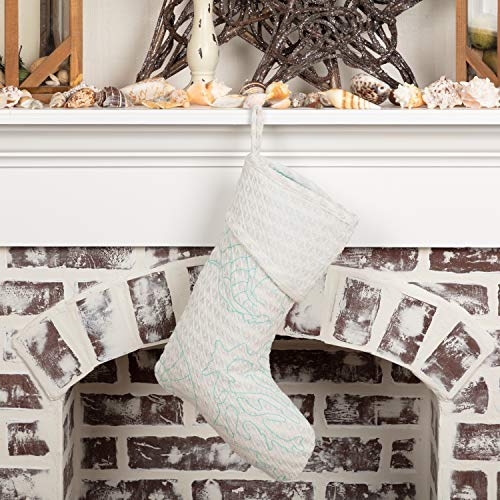 VHC Brands Holiday Decor Arielle Stocking, 15 x 11