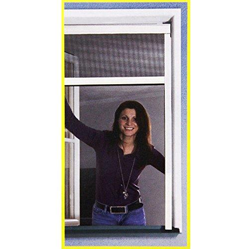 Insektenschutz Rollo 160x160cm Weiß Fliegengitter Fenster Netz Rhino Screen
