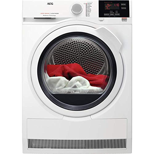AEG T6DBG821N Freestanding Condenser Tumble Dryer with Prosense Technology, 8kg Load, White