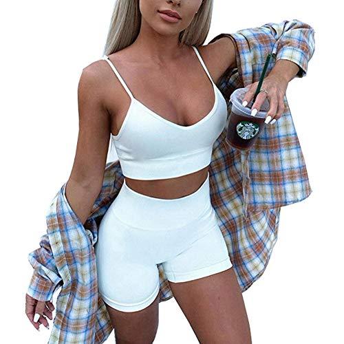 Loalirando - Conjunto deportivo de 2 piezas para mujer y niña, traje...