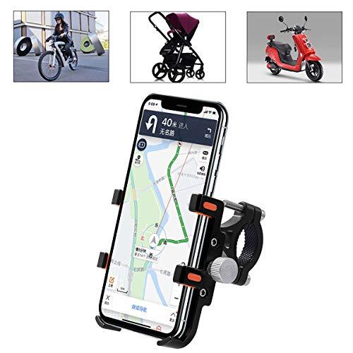 SANON Fiets Motorfiets Telefoonhouder —Aluminium Fiets Motorfiets Stuur Telefoonhouder voor iPhone Samsung Galaxy GPS Telefoonhouder Beugel Rood