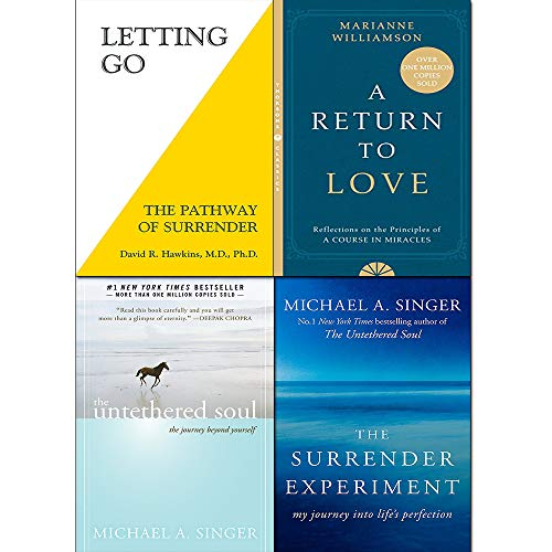 A Return to Love, Untethered Soul, Letting Go, Surrender Experiment 4 Books Collection Set