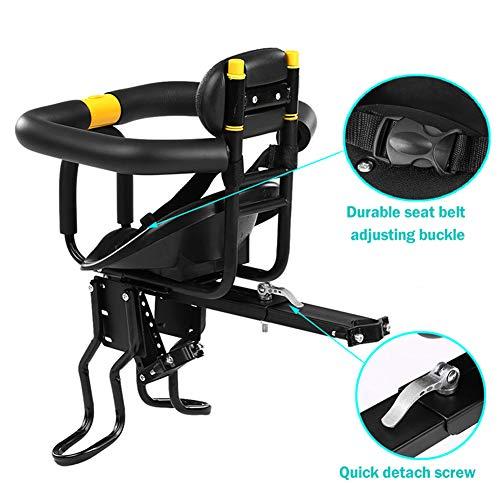 LUKUCEA Kinderfahrradsitz Vorneliegender Fahrradsitz für Kinder Faltbarer und ultraleichter Kinderfahrradträger Handlauf für Kinder ab2-6 Jahren, bis 30KG