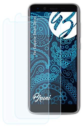 Bruni Schutzfolie kompatibel mit Emporia Smart.3mini Folie, glasklare Bildschirmschutzfolie (2X)