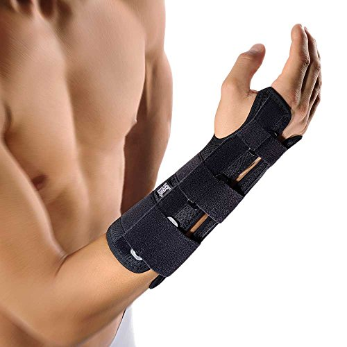 Bort ManuStabilPro offene Form Handgelenk Orthese Hand Stütze Gelenk Bandage, Links, M
