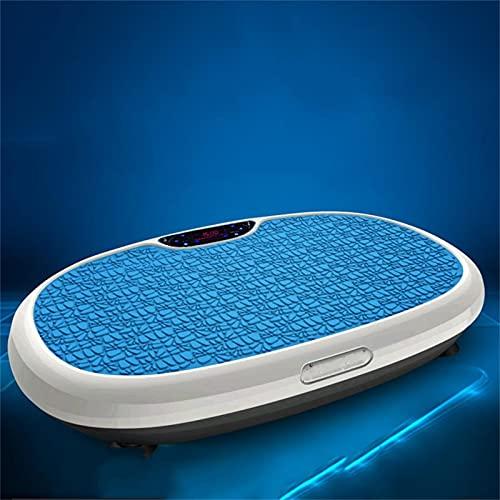 H-XH Vibrationsplatte - Vibrationsplatte Testsieger 2020 - Home-trainingsgeräte Zur Gewichtsabnahme & Tonung, Maximal 300lb Max.(Color:Blaue Vibrations-Power-Platten)