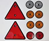 BITS4REASONS Maypole MP 1699 Kit de reflectantes 2 triangulares rojos 2 redondos rojos 4 redondos...