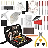 54Pcs Complete Guitar Repairing Maintenance Tool Kit, Guitar Repair Tools Setup Kit with Carrying Case, Guitar Cleaning Care Accessories for Acoustic Electric Guitar Ukulele Bass Mandolin Banjo
