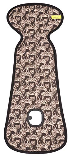 Colchoneta AirLayer AeroMoov para silla de paseo ASALBLE Leopardos - colchoneta 3D de forro suave con estructura alveolar transpirable que mantiene a su bebé fresco y seco en su silla de paseo