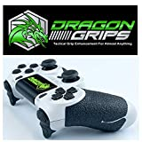 Dragon Grips PS4 DUALSHOCK CONTROLLER GRIP (24pc) Controller Accessories dualshock ps4 controller grip black textured rubber mod pack including paddles, trigger control ps4 controller accessories mods