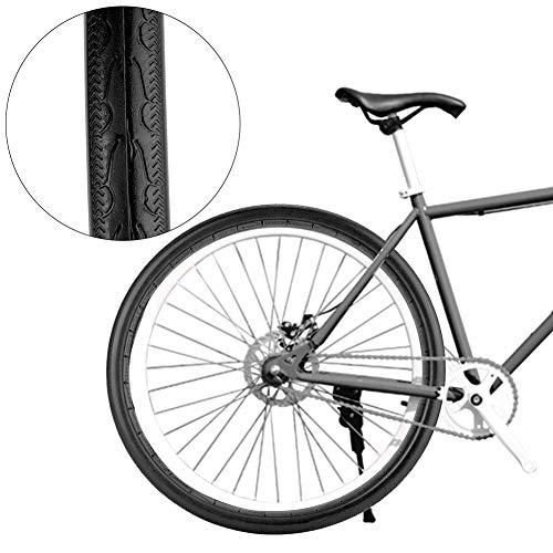 Topiky 700x23c fietsbanden, 26 inch volledige slang, explosiebeveiligde banden voor MTB en 700c racefietsen, zwart