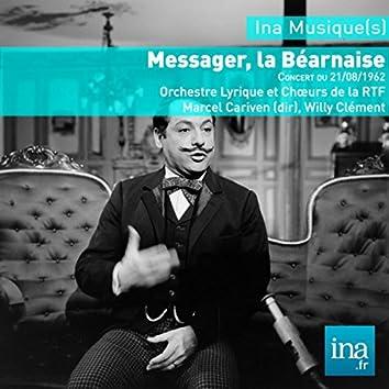 La Bearnaise, A. Messager, Concert du 21/08/1962, Orchestre Lyrique de la RTF, Marcel Cariven (dir)