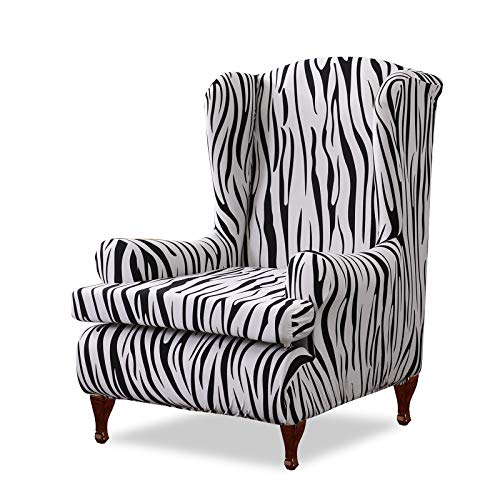 VanderHOME Ohrensessel husse ohrensessel bezug Stretch sesselhussen Sessel bezug husse für ohrensessel Zebra