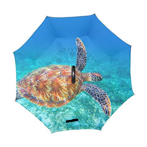 Buy Discount TropicalLife Double Layer Inverted Umbrella Ocean Sea Turtle Reverse Umbrella