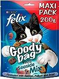 Felix Goody Bag Croccantini Misto Mare, Snack per Gatti, confezione da 5