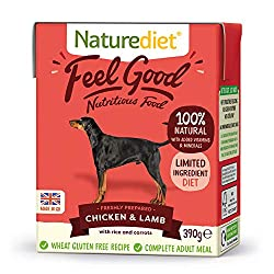 NUTRITIONALLY BALANCED - This complete and nutritionally balanced natural dog food contains all the essential nutrients your dog needs for a healthy diet. Made with freshly prepared Chicken, Lamb and wholefoods. 100% NATURAL INGREDIENTS FOR GENTLE DI...
