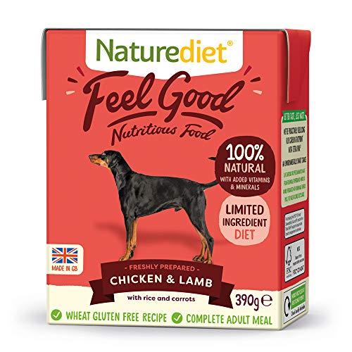 Naturediet Comida Húmeda Completa De Pollo Y Cordero Feel Good 390 G X 18 - Paquete de 18 x 416.67 gr - Total: 7500 gr