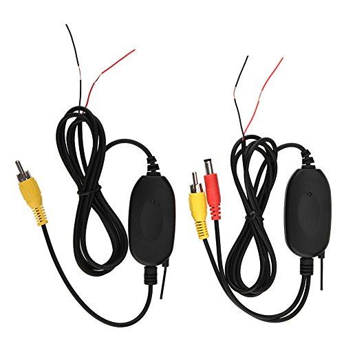 Richer-R WiFi Auto Sender Empfänger, 2.4GHz WiFi Transmitter Empfänger Video Wireless Sender,Kabellos Empfänger Auto Kamera Wireless Modul für Rückfahrkamera Kleinlastwagen PKW(AV Schnittstelle)