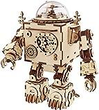 Zulux Puzzle 3D Caja de música de Madera Craft Kit Robot de Juguete con luz...