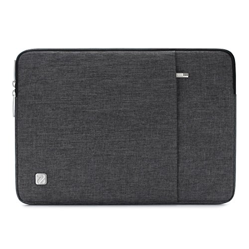 NIDOO 17 Inch Water-Resistant Laptop Sleeve Case Protective Bag Portable Carring Pouch For 17.3' Lenovo IdeaPad 300/17.3' HP ProBook 470/17.3' Dell Inspiron 17/17.3' Lenovo Legion Y730, Dark Grey