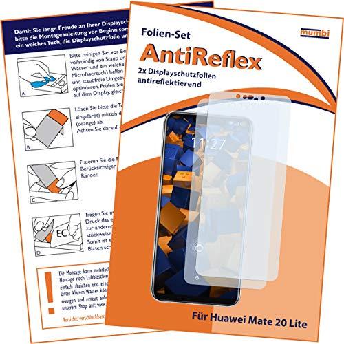 mumbi Schutzfolie kompatibel mit Huawei Mate 20 Lite Folie matt, Displayschutzfolie (2X)