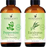 Handcraft Peppermint Essential Oil and Eucalyptus Essential Oil Set – Huge 4 Fl. Oz – 100% Pure and Natural Essential Oils – Premium Therapeutic Grade with Premium Glass Dropper