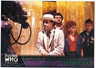 2016 Topps Doctor Who Timeless Green Foil Parallel #33 Dragonfire
