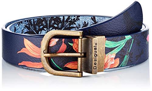 Desigual Belt_Surreal Cinturón, azul, 90 cm para Mujer
