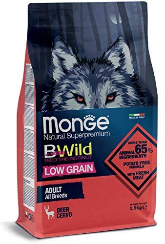 Monge Cane CROCCHETTA BWILD Low Grain all Breeds Adulto con Cervo 12 kg.