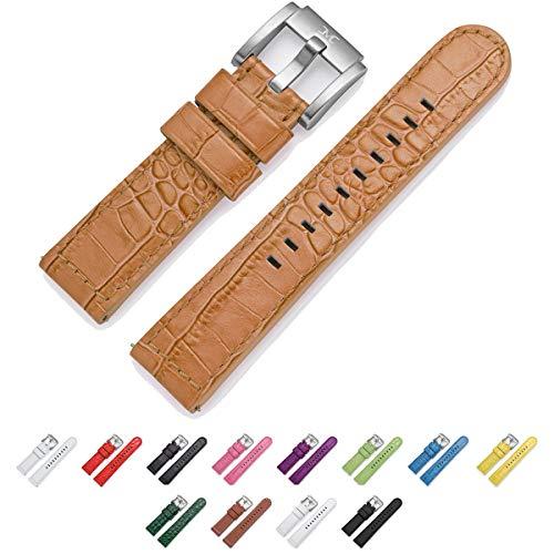 TW Steel Marc Coblen Reloj de pulsera reloj de pulsera piel 22mm cocodrilo marrón Lb _ BR _ K _ S