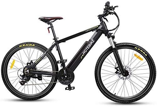 PARTAS Sightseeing/Commuting Tool - 26 Zoll Electric Mountain Bike 36V10AH Lithium-Batterie 350W High Power Elektro-Fahrrad-Straßen-Reifen-Stadt-Pendler-Bike (Color : Black)