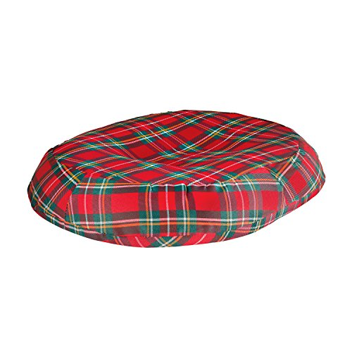 Duro-Med 18-inch Molded Foam Ring Donut Seat Cushion Pillow, Plaid