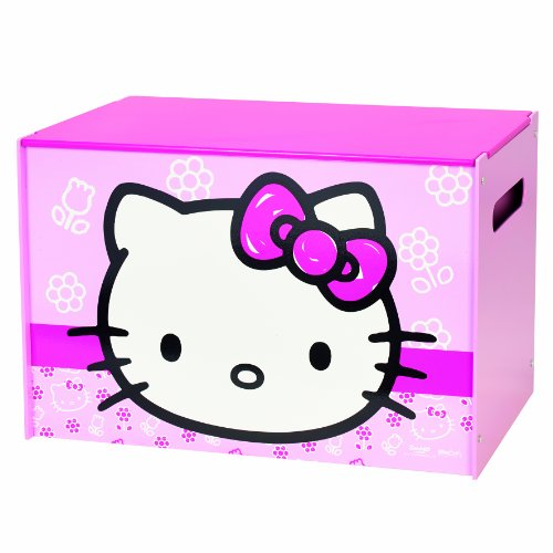 Worlds Apart 864791 Hello Kitty Coffre de Rangement Bois/MDF Rose 60 x 40 x 40 cm
