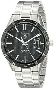 TAG Heuer Men's WV211M.BA0787 Carrera Calibre Five Black Dial Watch