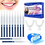 MayBeau Teeth Whitening Kit,No Sensitive Teeth Whitener with 10 Teeth Whitening Gels,Professional LED Accelerator Light and 2 Mouth Trays for Teeth Whiten