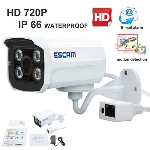Escam Brick QD300 HD720P Waterproof Network IP Home Security Bullet Surveillance Camera 3.6mm Lens 15m Ir cut Support Day/Night