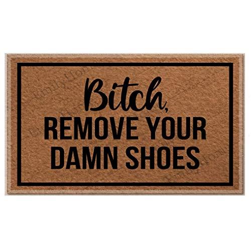 Fenrris65 - Alfombra decorativa de goma antideslizante para quitar tus malditos zapatos, para el hogar y la oficina, 23,6 x 15,7 cm