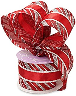 Satin Wrapped Wired Christmas Ribbon - 2 1/2