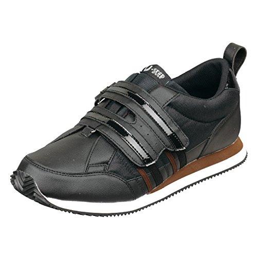[ムーンスター] ムーンスター レディース リハビリ 介護靴 Vステップ06 (両足同サイズ) ブラック 23 cm 3E