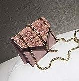 HKFG Bolso Cuadrado de Lentejuelas para Mujer Bolso de diseñador de Mujer de Cuero PU Bolso Bandolera de Hombro con Cadena con borlas