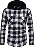 Blusa de Hombre Camisetas de Cuadros Ocasionales de los Jers