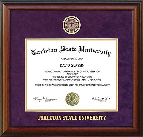 Super sale Tarleton State University Diploma Special sale item School Frame with Medallion