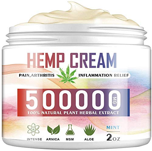 Natural Hemp Cream for Pain Relief, Organic Hemp Herbal Extract Cream, Relieves Muscle Joint Pain Lower Back Pain Knees and Fingers