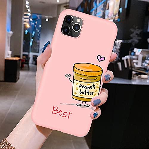 Fundas de teléfono de Silicona Suave Mate para iPhone XR X XS 11 Pro MAX 8 7 6 6S Plus 5S SE 2020 Fundas Cute Best Friends Forever, K, para 6plus 6splus