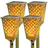 Walensee Solar Flame Flickering Lamp Torch, Bronze Color,4 Pack Led...