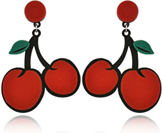 Statement Earrings for Women Handmade Bohemian Lightweight Dangle Fashion Cute Acrylic