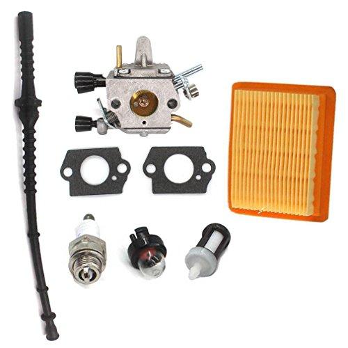 AISEN Carburateur avec filtre à air, tuyau à essence, bougie d'allumage pour débroussailleuse Stihl FS120 FS200 FS250 FS300 FS350 HT250.
